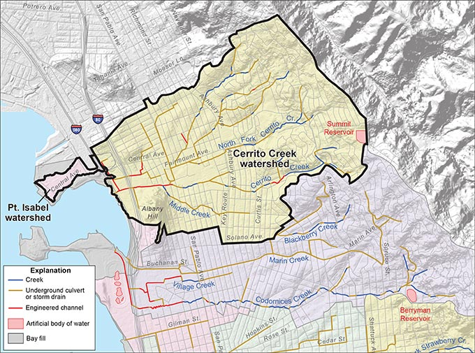 Cerrito Creek and Point Isabel Watersheds