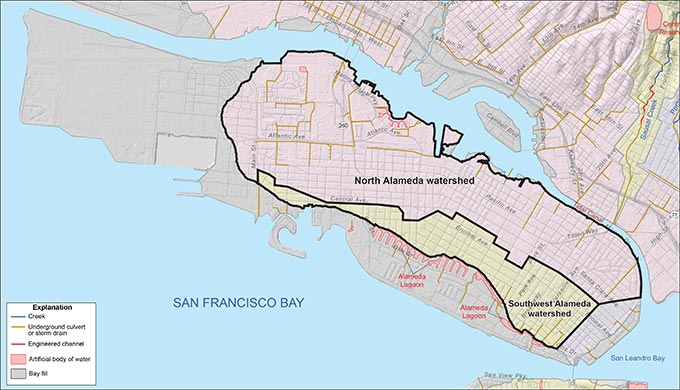 North Alameda and Southwest Alameda Watersheds