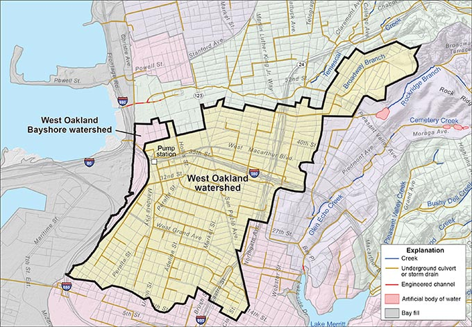West Oakland and West Oakland Bayshore Watersheds